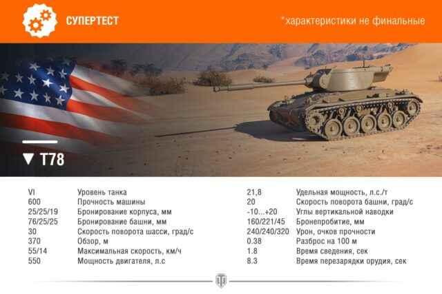 Т78 - Американская ПТ-САУ 6 уровня