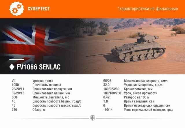 FV1066 SENLAC - Новый ЛТ Британии