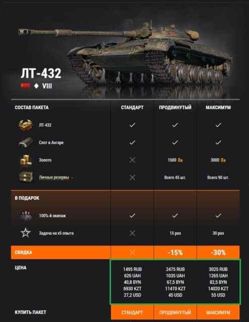 Премиум танк недели: ЛТ-432
