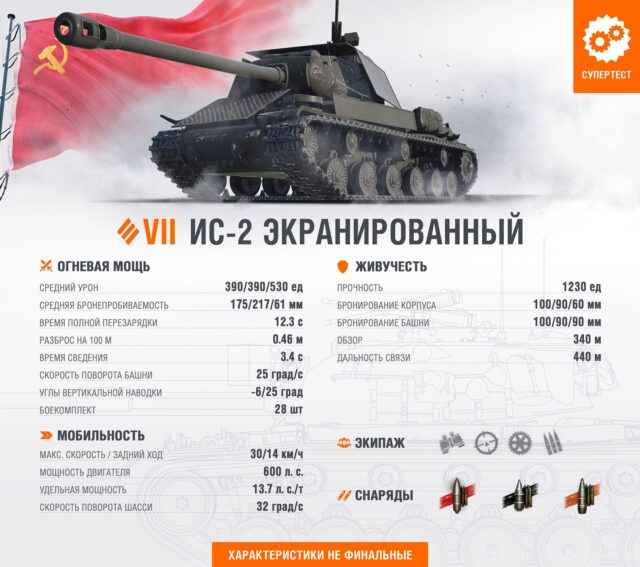 ИС-2Э - ТТ 7 уровня СССР
