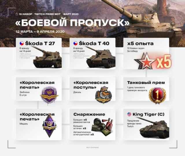 Набор «Боевой пропуск» за Март-Апрель: Акция Прямой эфир (Twitch Prime)