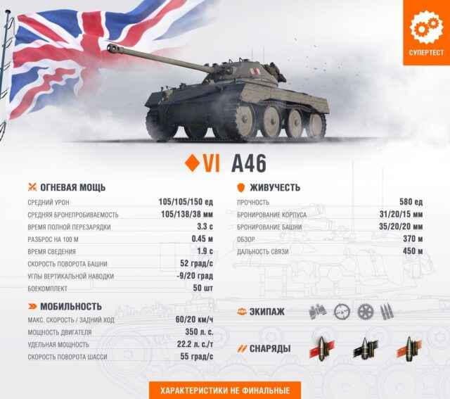 A46 - премиум ЛТ-6 Великобритании
