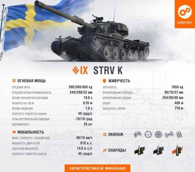 STRV K - Шведский тяж 9 уровня