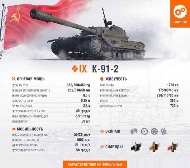 К-91-2: Средний танк СССР