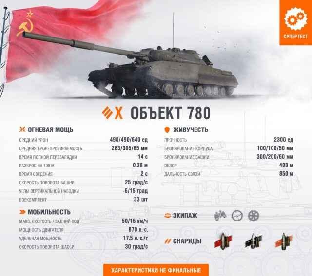 Объект 780 - Тяжелый танк 10 уровня СССР