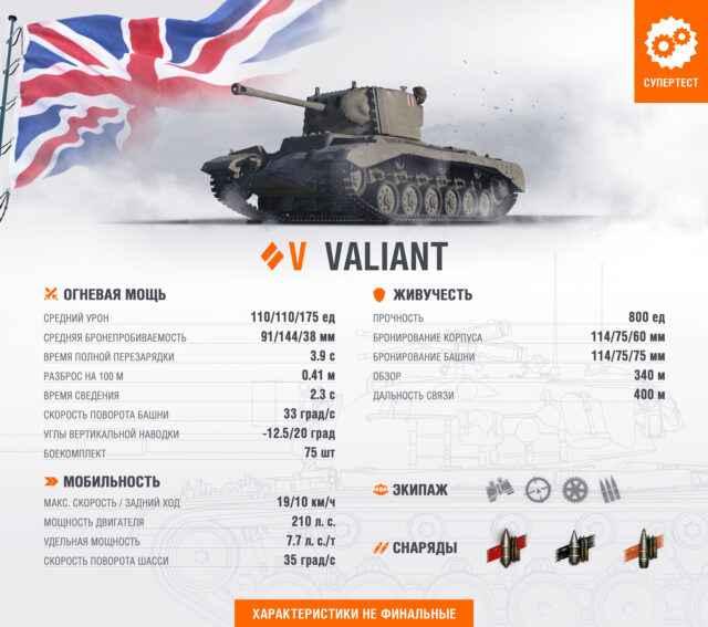 Британский СТ Valiant 5 уровня