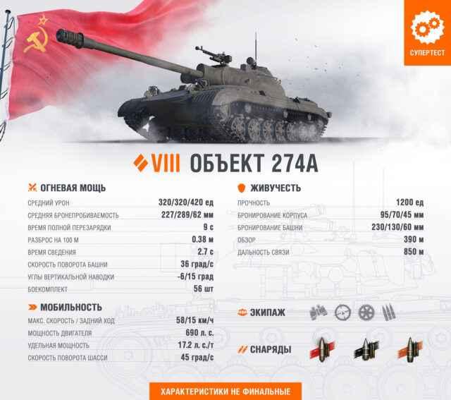 Объект 274а - премиум СТ 8 СССР